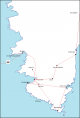 carte Corse du sud