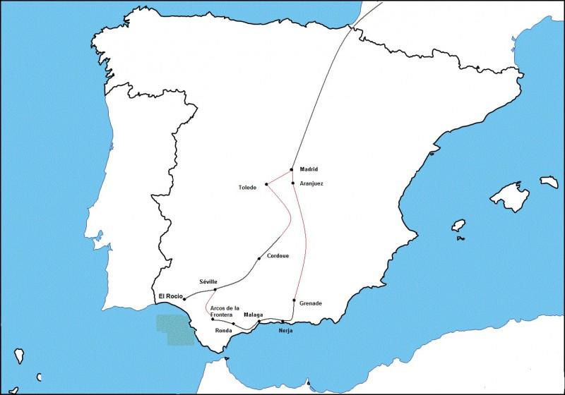 Andalousie Carte Didentite.Belles D Espagne Castille Et Andalousie Combedouzou Voyages