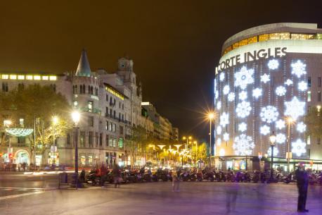 Barcelone illuminé Pl Catalogne